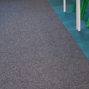 fibre bonded entrance matting - carpet sheet and tiles: chevrolay