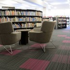 strands carpet tiles Bridgeton Library Glasgow