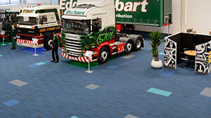 structure bonded carpet tiles at Eddie Stobart