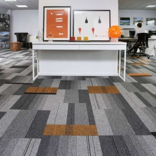 balance atomic, lateral®, zip & code carpet tiles at Ibbotson Architects Ltd