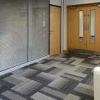 balance atomic carpet tiles at V Installations offices