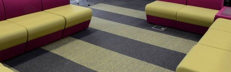 tivoli carpet tiles from burmatex at Loughborough University